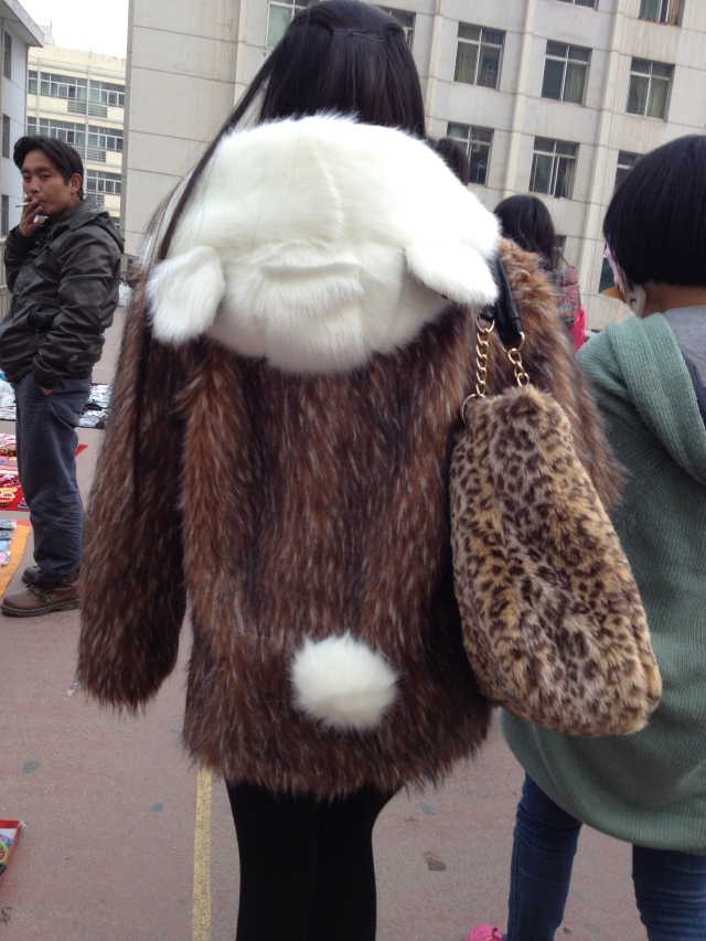 Just another winter coat in Western China :-)