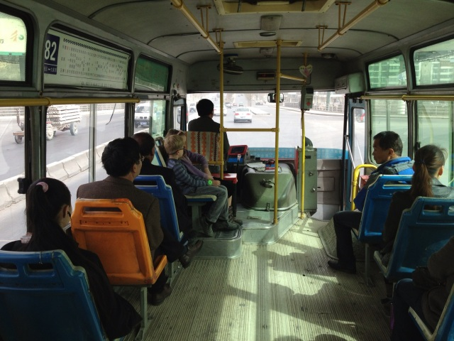 A rare bus ride with so few people!