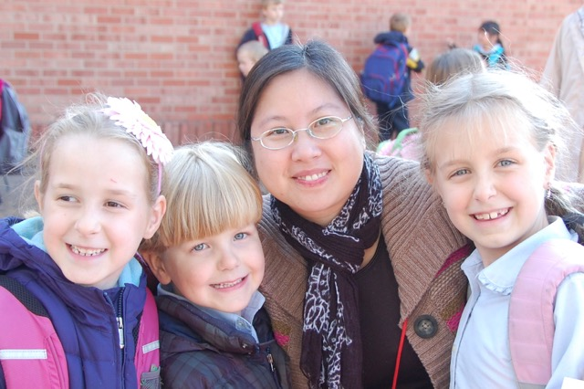 Our Beloved Miss Yang who was all three of our kids' Kindergarten teacher!